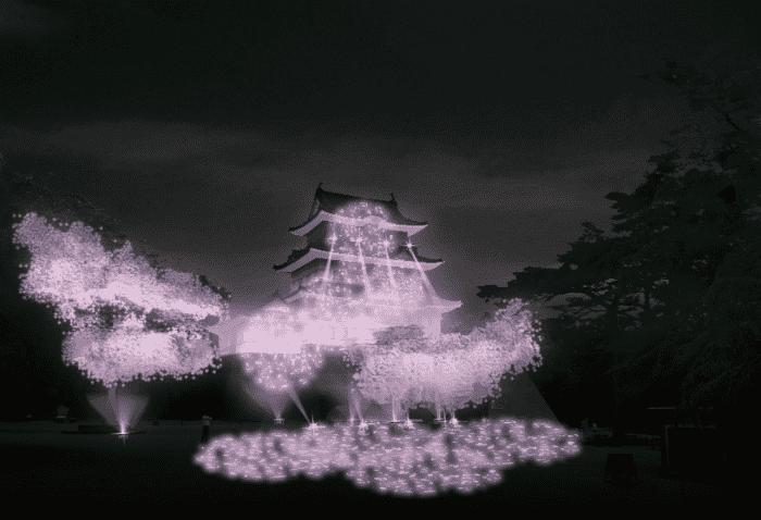 【小田原】冬桜イルミネーション 光と音が織りなすファンタジーショー