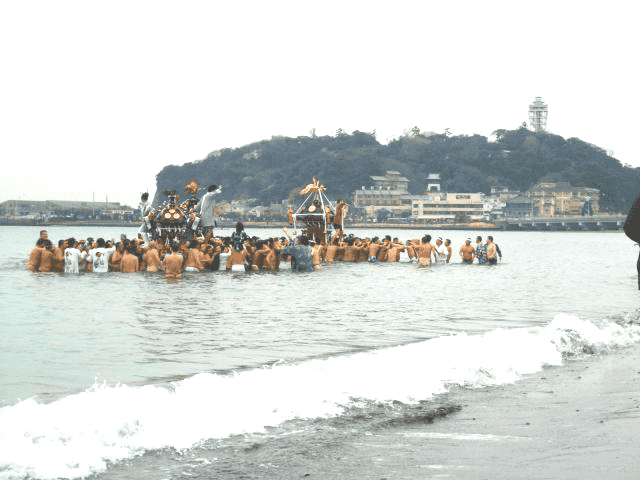 【Fujisawa】 37th cold Mikoshi Imperial Gathering Competition