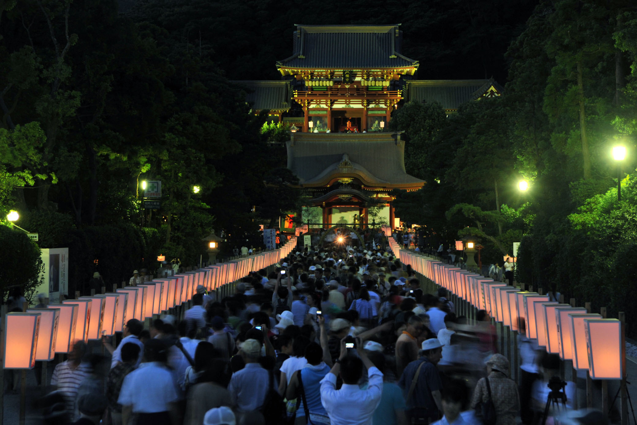 【鎌倉】鶴岡八幡宮 ぼんぼり祭